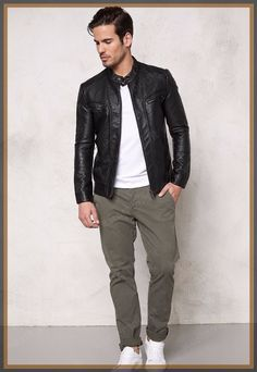 We Present an Extensive Collection of Men, Women, Celebrity, Motorcycle & Custom Leather Jackets. Great Quality, Best Value! Visit for Buy Now Leather Jeans Men, Black Leather Bomber Jacket, Lambskin Leather Jacket, Custom Leather Jackets, Stylish Mens Fashion, Men Fashion, Revival Clothing, Riders Jacket, Skinny Guys