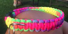 Buy Custom made Paracord Dog Collar by knotkreations. Explore more products on http://knotkreations.etsy.com