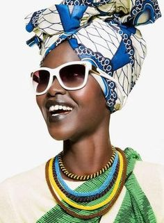 Mary Maguet shot by Giulio Rustichelli for Flair Magazine March 2014 fashion editorial #headwrap #sunglasses