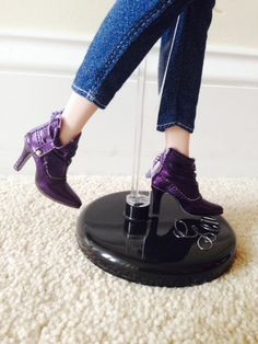 THE STUDIO COMMISSARY: Awesome shoes! Some worn by Gene, some by others (pic heavy)  -  (9 PICS)  -  Posted by Karen in NC [Email User] on February 15, 2016, 4:48 pm.  This picture: Because they're slouch boots and they're purple.