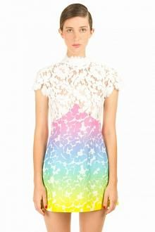 CHRISTOPHER KANE LACE TOP EMPIRE MINI DRESS - WOMEN - DRESSES - OPENING CEREMONY