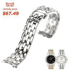 62.99$  Buy now - http://alix6f.worldwells.pw/go.php?t=32677931681 - ISUNZUN Watch Bands For Tissot 1853 T97 R463 316 Stainless Steel Watch Strap Top Quality Watchband For Men And Women Watch Band