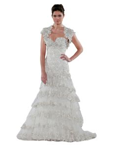 Strapless Silver Embroided Lace Bodice Gown bu Pnina Tornai   Hudson's Bay. #wedding #dress #bride