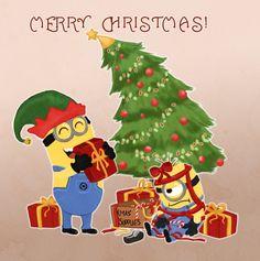 merry christmas - Minion Christmas Wallpaper