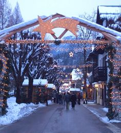Strobl am Wolfgangsee at Christmastime, Austria