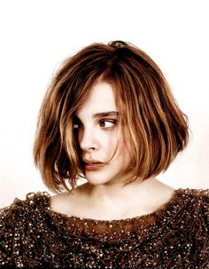 Kind of wanting a shorter hair cut and this is really cute.  Chloe Moretz