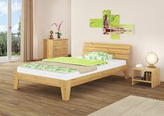 Massivholzbett Alaska Harriet Bee Liegefläche: 120 x 200 cm Couches, Betta, Foyer, Toddler Bed, Interior, Beautiful, Inspiration, Furniture, Shopping