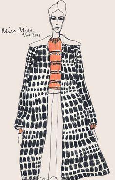 Rosie McGuinness (London-based), A/W 2015, Miu Miu Fashion Illustration.