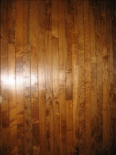 Maple Floor With A Dark Stain   Love It! Good Discussion About The  Difficulties Of