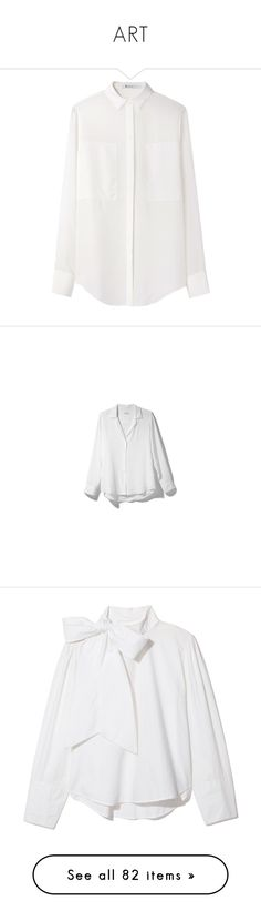 """""""ART"""" by madelame ❤ liked on Polyvore featuring tops, blouses, shirts, sheer long sleeve top, long sleeve shirts, see through blouse, white blouse, sheer blouses, equipment shirts and relaxed fit shirt"""
