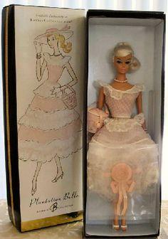 2004 Plantation Belle Vintage Barbie Reproduction This is a reproduction of Vintage Barbie Plantation Belle and a Platinum Swirl Ponytail Vintage Barbie Doll. Barbie Dream, Vintage Barbie Dolls, Barbie World, Mattel Barbie, Barbie And Ken, Color Swirl, Beautiful Barbie Dolls, Disney Dolls, Barbie Collection