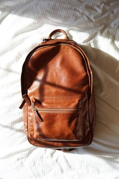 Know our leader of the pack? This Estate leather backpack will last for years…