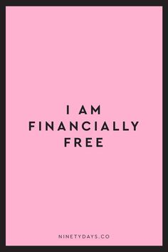 Feel those chains of debt slip away as you declare yourself financially free. #money #moneyaffirmations #manifest