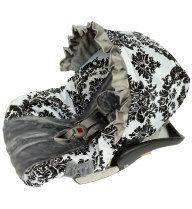 Platinum+Damask+with+Minky+Infant+Car+Seat+by+BabyCarSeatCovers,+$84.95