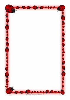 Ladybird A4 Page Borders (SB1380) - SparkleBox