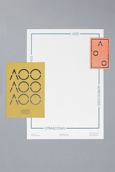 Altrescoses Otrascosas Otherthings brand identity and stationery by Raw Color