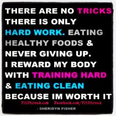There are no tricks; train hard... because you're worth it!  www.FITPHREAK.com #crossfit #eatclean #nutrition #food #muscle #workout #workingout #running #health #healthy #crossfitgirls #wod #fit #fitness #paleo #fitchicks #fitchick #strong #motivation #gym #exercise #traindirty #weightlifting #beast #beastmode #love #instagood #getfit #photooftheday #instagramfitness