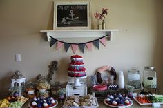 Project Nursery - Red and Navy Nautical Baby Shower