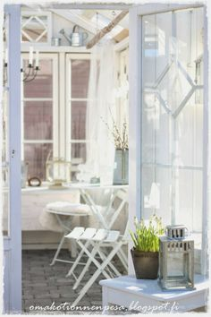 Green Houses, Potting Sheds, Cottage Living, Archipelago, Outdoor Entertaining, Container Gardening, Outdoor Gardens, Outdoor Living, Porch
