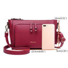 290152897731 Hot-sale designer Brenice Women Solid Tassel PU Leather Crossbody Bag  Shoulder Bag Clutch Bag