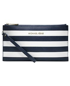 MICHAEL Michael Kors Handbag, Jet Set Travel Stripe Zip Clutch - Shop All - Handbags & Accessories - Macy's