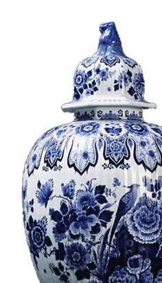 Blue Delft porcelain ginger jar