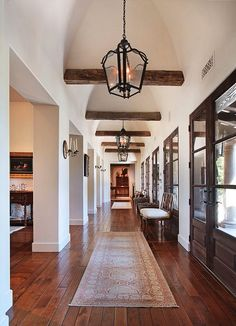 Exposed beams on white