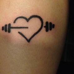 Image result for tatuagem de halteres
