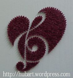 heart string art