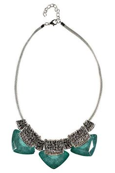 Harriet Shaped Stone Necklace at boohoo.com