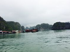 Ha Long Bay (end of March) foggy but very humid and warm! Stunning