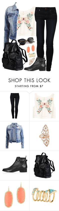 """""""Am I thinking with my heart or with my head?"""" by rocketsheep ❤ liked on Polyvore featuring even&odd, H&M, Vila Milano, Topshop, Doucal's, Kendra Scott, lyrics and WeCameAsRomans"""