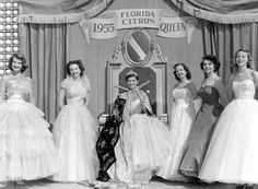 Miss Citrus Queen, Sally Ardrey, and Her Court: Winter Haven, Florida by State Library and Archives of Florida on Flickr.