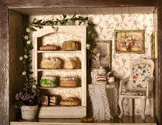 Kleines Cafe im oberen Teil des Uhrenkastens