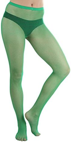 ToBeInStyle Womens Fishnet Seamless Pantyhose  Kelly Green * Click on the image for additional details.