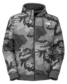 The North Face Rev Kingston Jacket II Mens Graphite Grey Camo Print M * Want to know more, click on the image. (This is an affiliate link) Mens Outdoor Clothing, Outdoor Outfit, Camo Print, Military Jacket, The North Face, Rain Jacket, Windbreaker, Jackets, Kingston