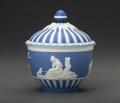 1785-1790 British Sugar bowl at the Museum of Fine Arts, Boston - My favourite thing about Wedgwood pieces like this one is their matte finish.  I find it quite distinctive.