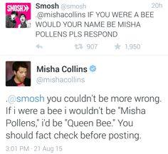 Exactly why Misha Collins is my spirit animal