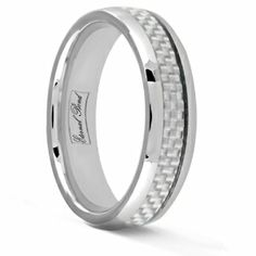 ARGOS-6MM Tungsten Carbide White Carbon Fiber Inlay Wedding Band Ring from our ETERNAL BOND collection is perfect to expressing your love. Imagine wearing a ring that never needs polishing, a ring that is virtually scratch proof. Tungsten carbide rings are the future. With rugged looks and a modern design our Tungsten carbide rings are prefect as a wedding band or as a%2...