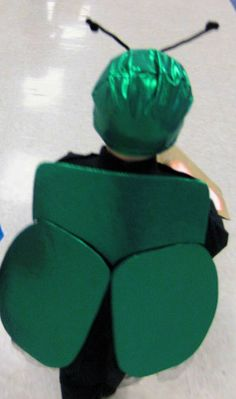 beetle costume... great for little guys. when it's cold outside, they could wear thermals and black sweats.
