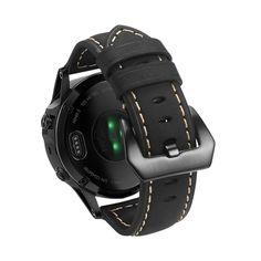 Cool TTstyle Black Leather S.Steel Clasp Bracelet Wristband NEW