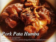 Humba recipes usually use pork shoulder or other meaty parts of the pig but this recipe, pork pata humba use pork knuckles instead. This recipe is more likely a Humba Recipe Pork, Pata Recipe, Pork And Beef Recipe, Healthy Meat Recipes, Pork Recipes, Filipino Recipes, Filipino Food, Philippine Cuisine, Pork Hock