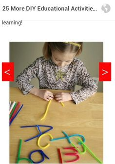 Make the alphabet with pipe cleaners