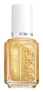 These Essie Luxeffects are perfect for when you want to salvage a fading manicure. Just clean up your tips w/ the original color and paint these on. It makes for a new-ish color and they look so much fresher. This one is basically Goldschlager for your nails. Wearing it now over a dark green.