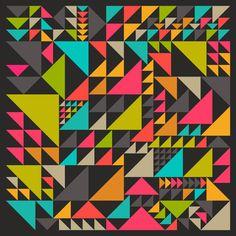 Organized Art Print--80s/90s colors!