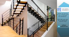 Where our European-trained craftsmen custom manufacture railings, staircases, gates, decks, fences and other custom metal work. Staircase Railings, Staircases, Stairs, Custom Metal Work, Custom Metal Fabrication, Apex Design, Metal Gates, Metal Projects, Service Design