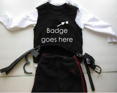 My Handmade Home: DIY: Police Officer Costume (Last minute!) easy and can double for security Kids Police Officer Costume, Cop Costume For Kids, Homemade Costumes, Halloween Costumes For Kids, Halloween Ideas, Halloween 2017, Halloween Stuff, Halloween Crafts, Costumes