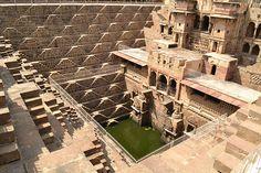 L'escalier de Chand Baori, Rajasthan, Inde