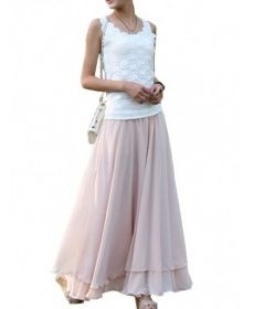 Dlhá štýlová sukňa