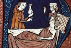 La grippe au moyen age - Canon of Medicine is an encyclopedia of medicine in five books compiled by Persian philosopher Avicenna (Ibn Sina) and completed in Medieval Life, Medieval Art, Renaissance, Sphinx, Statues, Medieval Clothing, Medical History, 14th Century, Illuminated Manuscript